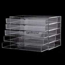 Acrylic Makeup Cosmetic Jewelry Organizer 5 Drawers Clear Large US Fast Ship