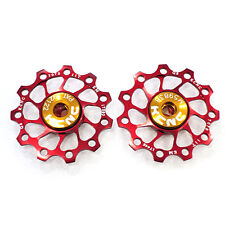 KCNC AL7075 Jockey Wheels Ultra Light Version Rear Derailleur Pulley 11T - Red