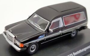 Best Of Show 1/87 Scale BOS87685 - 1977 Mercedes Benz W123 Hearse - Black