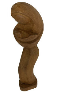 Mid Century Nativity Carved Wood Sculpture Mother Child Madonna Jesus