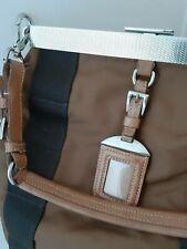 Auth PRADA Large Vela Fabric framed shoulder bag