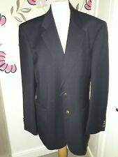 """MARKS AND SPENCER 55% WOOL NAVY BLUE SMART BLAZER JACKET SIZE M CHEST 42"""" -VGC"""