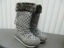 """""""george"""" ladies silver snow/ winter boots worn once size 4"""