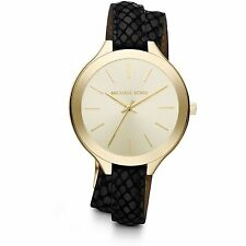 Michael Kors Genuine Leather Band Women's Wristwatches