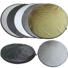 Fotostudio 110cm 43 inch 5 in 1 Rund Faltreflektor Multi Reflektor Set Taschen