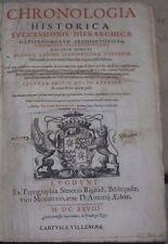 jacques severt / chronologia historica successions hierarchique (1628)