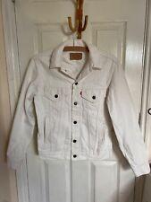 Levi's White Denim Jacket With Pockets Vintage Size S