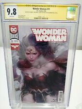 WONDER WOMAN #51 CGC 9.8 signed by ARTGERM and STEVE ORLANDO Signature Series
