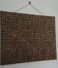 OUT OF STOCK 🍷Natural Large Hessian Jute 🍷WINE🍷 Print Notice Memo Pin Board