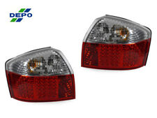 DEPO 2002-2005 Audi A4 / S4 4D Sedan B6 Chassis Red / Clear LED Tail Light Pair