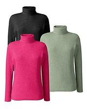 Polo Neck Long Sleeve Plus Size Tops & Shirts for Women