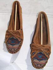 Shoes Minnetonka Indian Moccasins El Paso II Moc Loafers Taupe Size 5.5 NIB