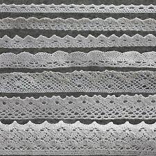 (1€/m) 4 m Spitze Spitzenband Baumwolle Spitzenborte  Hochzeit  Weiss