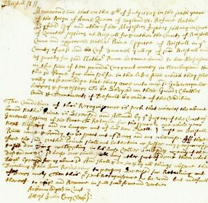 1707 QA Col AM-Doc> TO SELL WINE ,RUM & BRANDY OUT HIS HOUSE RETAYLE FOR 1 YEAR