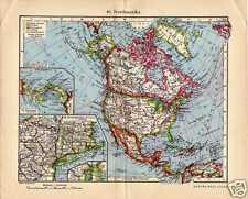 Antique map North America USA Canada 1936 noord Amerika