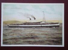 POSTCARD STEAM SHIPS TURBIN S.S. QUEEN ALEXANDRA