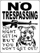 Pit Bull Pitbull Dog Sign Guard Doberman Pinscher Small Pets Decal 3388Pb2