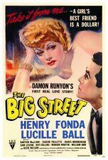 THE BIG STREET Movie POSTER 27x40 Henry Fonda Lucille Ball Agnes Moorehead