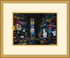 "Leroy Neiman ""Times Square "" Custom Framed Print FREE SHIPPING"