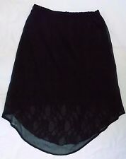 Maurices Netting/Lace Hi-Lo Skirt, Black, size S, elastic waist