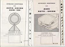 N°9800 /  2 dépliants attelages adaptable sur AUDI 100  AUTOUNION