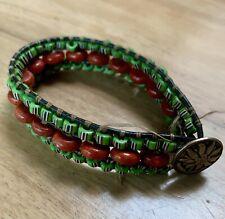 Green Bracelet African Trade Beads