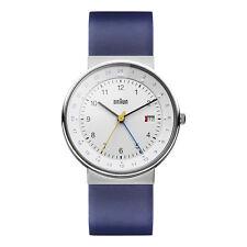 Braun Herren BN0142 klassische dual time Uhr mit Lederband WHBLG, 66556, Neu+OVP