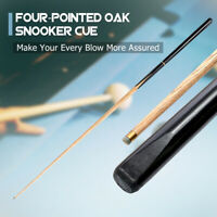 3/4 Piece 145CM 57'' Handmade Oak Wood Snooker Cue Extension 9-10MM Tips
