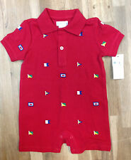 Ralph Lauren® Baby Boys' Boat Polo One-Piece Shortalls, Size 9M