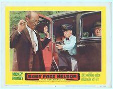 Rare Original VTG 1957 Mickey Rooney Baby Face Nelson 11x14 Movie Lobby Card