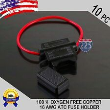 10-Pack Install Bay ATFH16C-10 Waterproof ATC Fuse Holder 16-Gauge with Cover