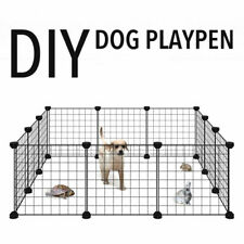8/10 Panel Pet Dog Playpen Puppy Exercise Cage Fence Kennel Foldable Safe Gate