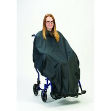Elasticated Hem Wheelchair Poncho - Folds Up Into Its Own Bag With Carry Handle