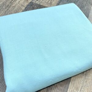 Vintage Nubby Lightweight Cotton Blend Robins Egg Blue by the Half Yard