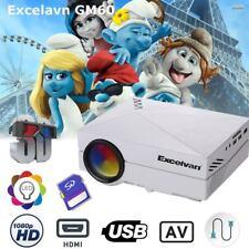 3D Proyector HD 1080P LED/LCD Video Projector AV/SD/USB/VGA/HDMI 1500 lumens ES
