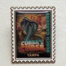 Busch Gardens Pin Cobras Curse Stamp Trading Pin Roller-coaster ride