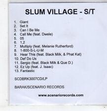 (GC713) Slum Village, Slum Village [Clean] - DJ CD