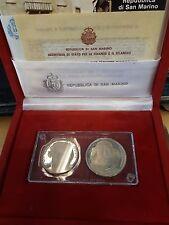 """1982 - L.500 + L.1000 in Ag commemorativo """"Garibaldi"""" Fondo specchio"""