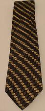Jeffrey Banks mens 100% silk tie  Tiny square design forms striped tie.
