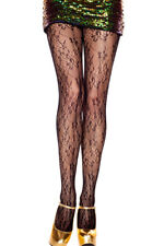 Sexy Black Floral Pantyhose.. New..one size
