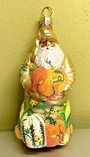 Patricia Breen Harvest Santa Gold Gourds Pumpkins Glass Glitter 2002 #2230