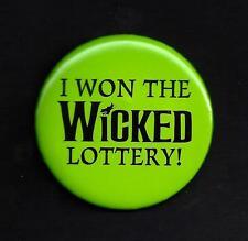 """Kristin Chenoweth """"WICKED"""" Idina Menzel """"I WON THE WICKED LOTTERY!"""" 2003 Pinback"""