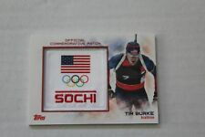 2014 Topps Official Commemorative Patch SOCHI Olympics Tim Burke Card