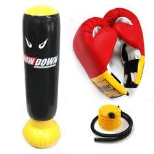 New Showdown Inflatable Punching Bag + Boxing Gloves Toy Wrestling Kids Bop set