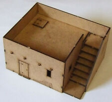 N african single storey adobe logement stepped 28mm échelle mdf kit bolt action