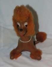 Vintage 1950's Rushton Dream Pets Brown Leather Poodle Dog Stuff Animal Toy