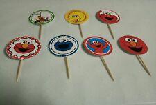 cupcake topper paper toothpick 12 packs Elmo sesame St design brandnew handmade