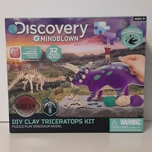 Discovery #Mindblown DIY Triceratops Kit Puzzler Play Dinosaur Model