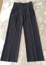 NEW NWT Bottega Veneta slate grey wool pleated Size 42 origami waistband pants 8