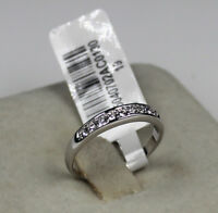 100% band new 18K white gold simulated diamond wedding ceremony ring  size 9